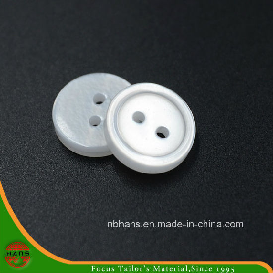 2 Holes New Design Polyester Shirt Button (S-114)