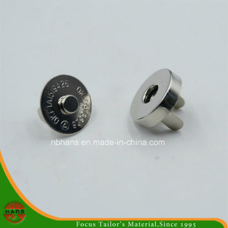 14mm Silver Round Magnet Button for Handbag (HAWM1650I0009)