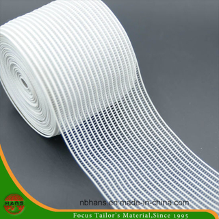 70mm Transparent Stripe Woven Elastic Tape (HATE16700001)