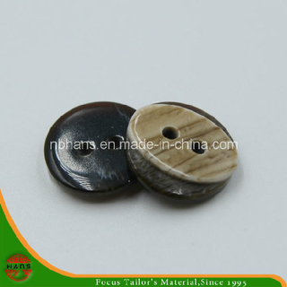 2 Holes New Design Polyester Shirt Button (S-120)