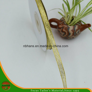 Golden Silver Gift Packaging Ribbon (HANS-86#-117)