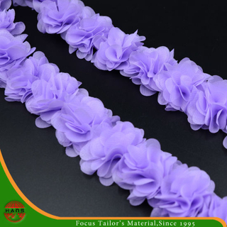 Purple Colors Satin Flowers for Decorationwith Fabric (HSXC-1706)