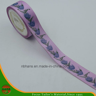 High Quality Polyester Satin Ribbon with Printing for Garment (ST-01)