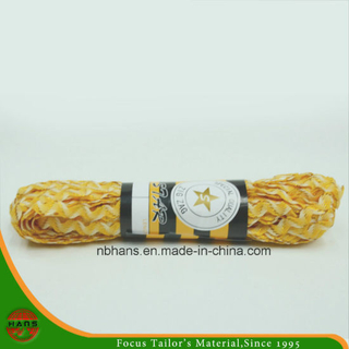 New Design Zig-Zag Tape with Gold Thread (yellow&white)