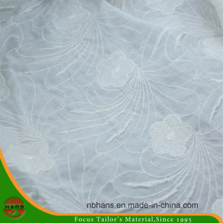 Single Embroidery Polyester Fabric for Garment (HAEF160011)