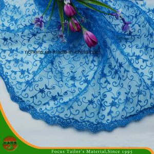High Quality Embroidery Polyester Fabric (HSKDM-1701)