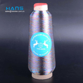 Hans China Manufacturer Wholesale Premium Quality Ms Metallic Yarn