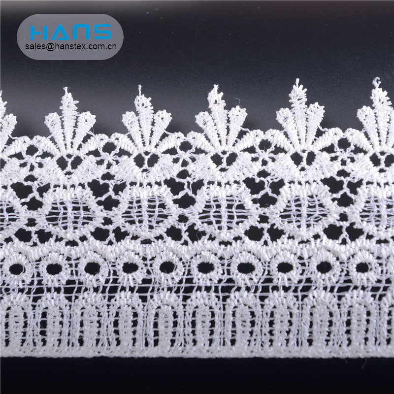 Hans Excellent Quality White Lace Fabric Istanbul