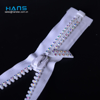 Hans Hot Selling Promotional Zipper with Stone