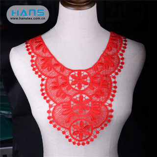 Hans Direct From China Factory Eco-Friendly Neck Design Lace for Churidar