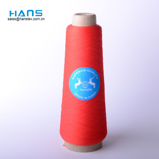Hans China Supplier Bright Color 3 Ply Polyester Thread
