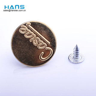 Hans Your Satisfied Custom Colored Metal Jeans Button