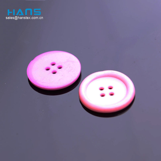 Hans Eco Custom Made New Design Clear 4 Hole Plastic Button