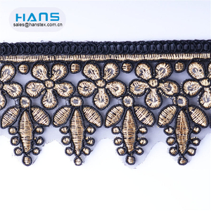 Hans Example of Standardized OEM Soft Cutwork Lace Embroidery Designs