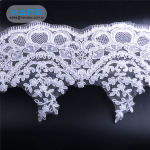 Hans China Factory Latest Arrival Lace Fabric with Beads