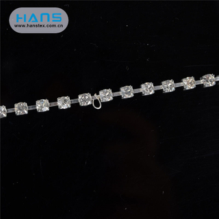 Hans High Quality OEM Shining Ss6.5 Rhinestone Chain