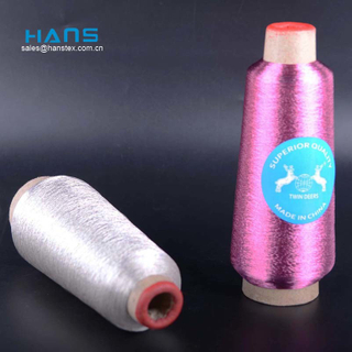 Hans Directly Sell Good Color Fastness Silver Yarn