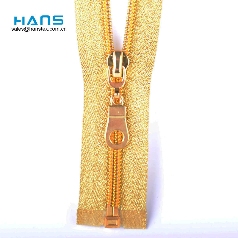 Hans Stylish and Premium Strong Custom Gold Zipper