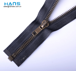 Hans New Fashion High Strength Leather Jacket Metal Zipper