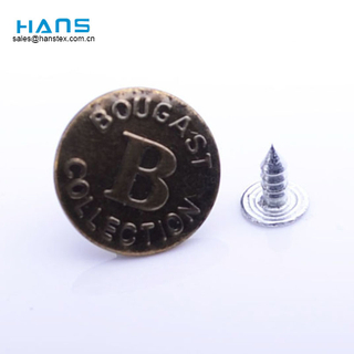 Hans ODM / OEM Design New Style Metal Button for Jeans