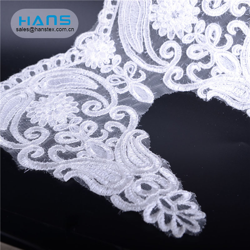 Hans New Design Product Fashion 3D Lace Fabric Beads Bridal