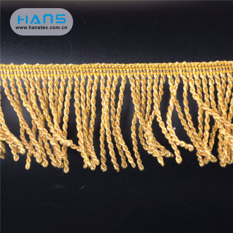 Hans Cheap Price Fashion Design Trimming Gold
