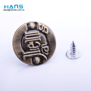 Hans Manufacturers in China Design Customized Button for Jeans