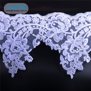 Hans Fast Delivery Professional Design White Embroidery Lace Fabric