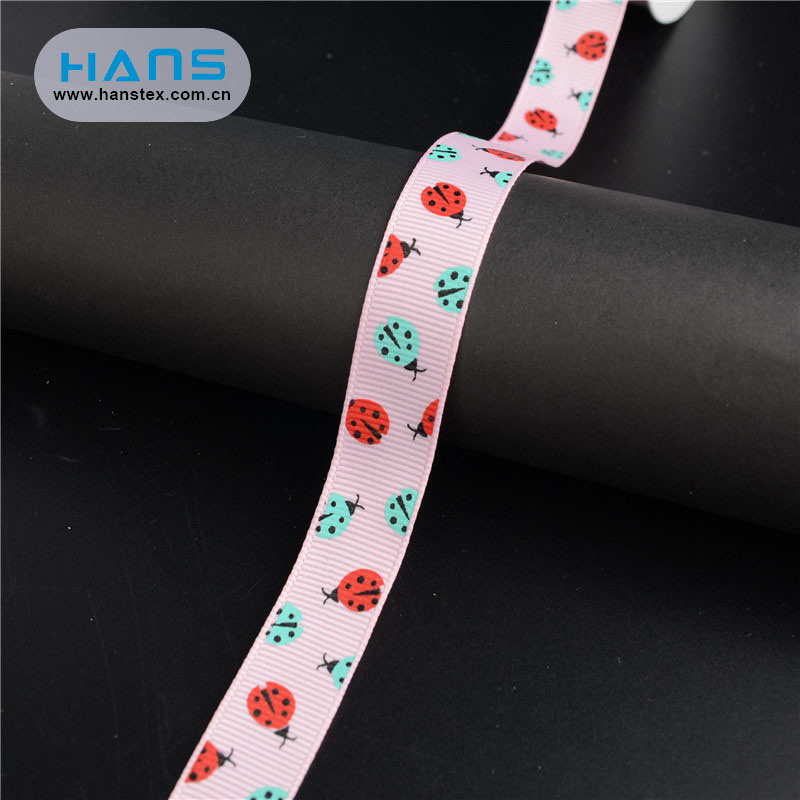 Hans China Factory Color Custom Grosgrain Ribbon
