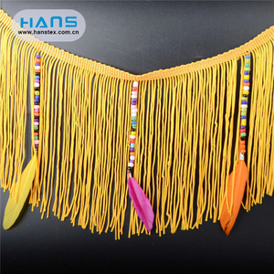 Hans Good Quality Nice Design Fabric Fringe Trim