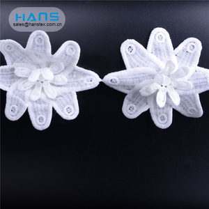 Hans Customized Service Eco-Friendly Cotton Lace Fabrics