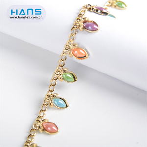 Hans Cheap Price Gorgeous Rhinestone Chains for Shoes Boots Decoration
