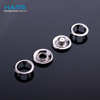 Hans High Quality OEM Polished Metal Ring Snap Button