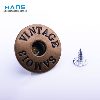 Hans Fashion Custom Colored Jeans Buttons and Rivets