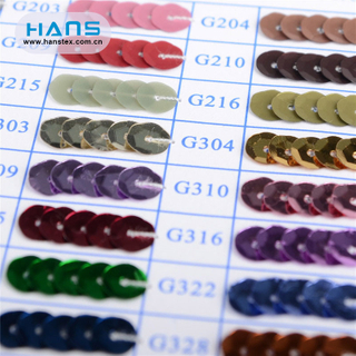 Hans Factory Directly Sell Clear Sequin Material