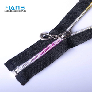 Hans Factory Hot Sales Washable Rainbow Teeth Zipper