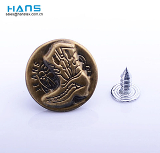 Hans Amazon Top Seller Clothing Custom Jeans Rivets Buttons