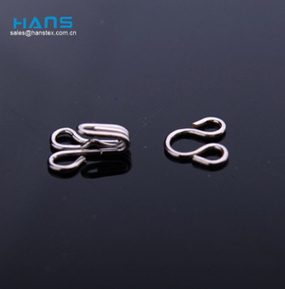 Hans Manufacturers in China Lucky Metal Hooks for Bra