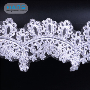 Hans Most Popular Nice Design Embroidery Lace Applique
