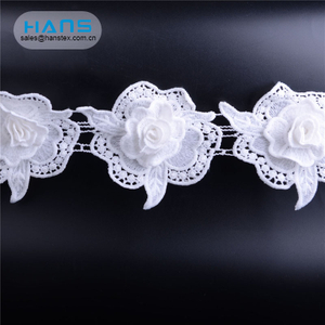 Hans Hot Selling Beige Cotton Tulle Lace