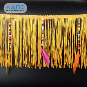 Hans Free Design Logo Apparel Gold Fringe Trim