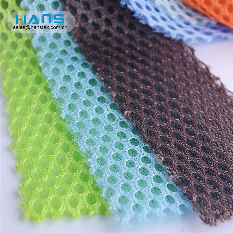 Hans Made in China Polyester Stiff Poly Antimicrobial Knitting Mesh Fabric