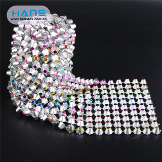 Hans Cheap Price Fashion Rhinestone Mesh