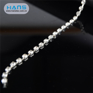 Hans New Well Designed Clear Rhinestone Cup Chain 10mm