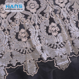 Hans Chinese Supplier Apparel Characteristic Lace Fabric