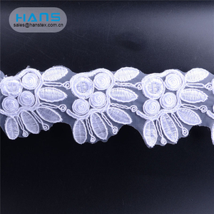 Hans Custom Promotion Garment Accessories embroidery Lace