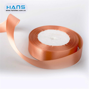 Hans 2019 Hot Sale Promotional Brown Satin Ribbon