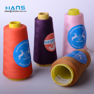 Hans 2019 Hot Sale Good Color Fastness 100% Spun Polyester Sewing Thread