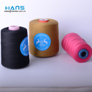 Hans Factory Direct Sale Bright Color 100% Polyester Spun Yarn